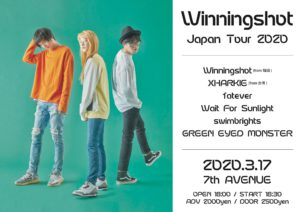 Winningshot Japan Tour 2020 @ 7th Avenue | Yokohama | Kanagawa | Japan